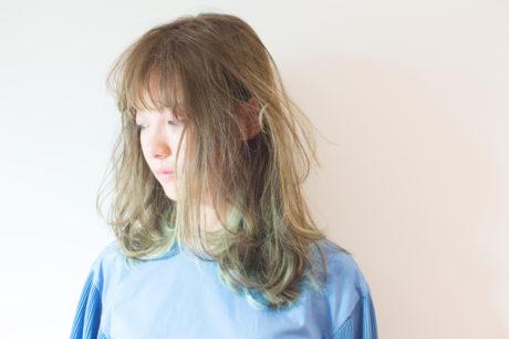 ポイントカラー ブルーグリーン ハイライト