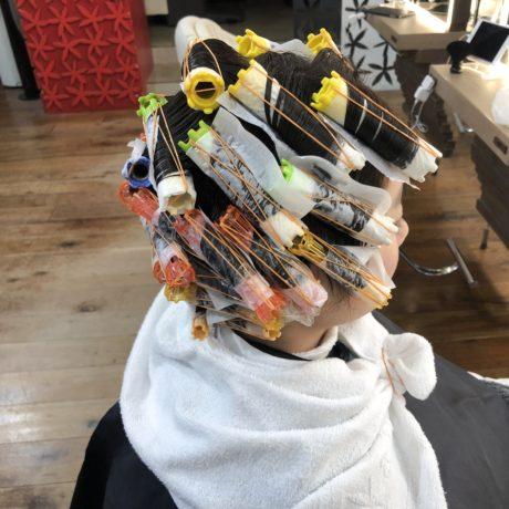ショートヘアパーマ